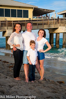 Miami Fort Lauderdale Florida family vacation portraits at sunrise by Bill Miller Photography